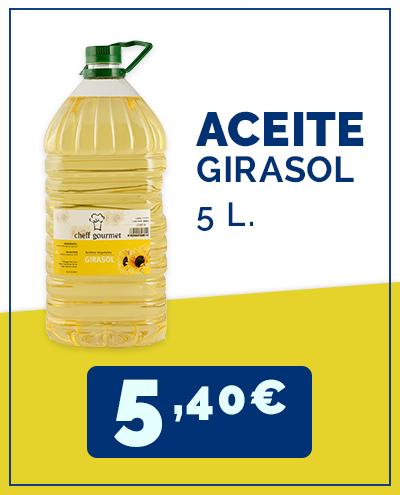 aceite girasol cash & carry