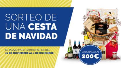 ¿Quieres ganar una cesta navideña valorada en 200€?