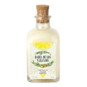 Crema de licor de limón Bahía de los Naranjos 10cl.